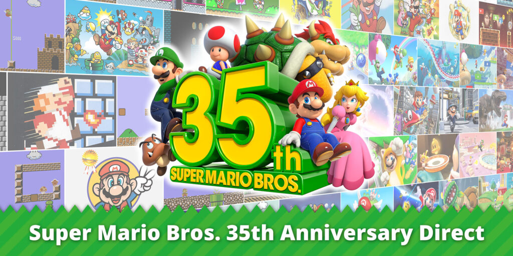 Celebrate the 35th anniversary of Super Mario Bros