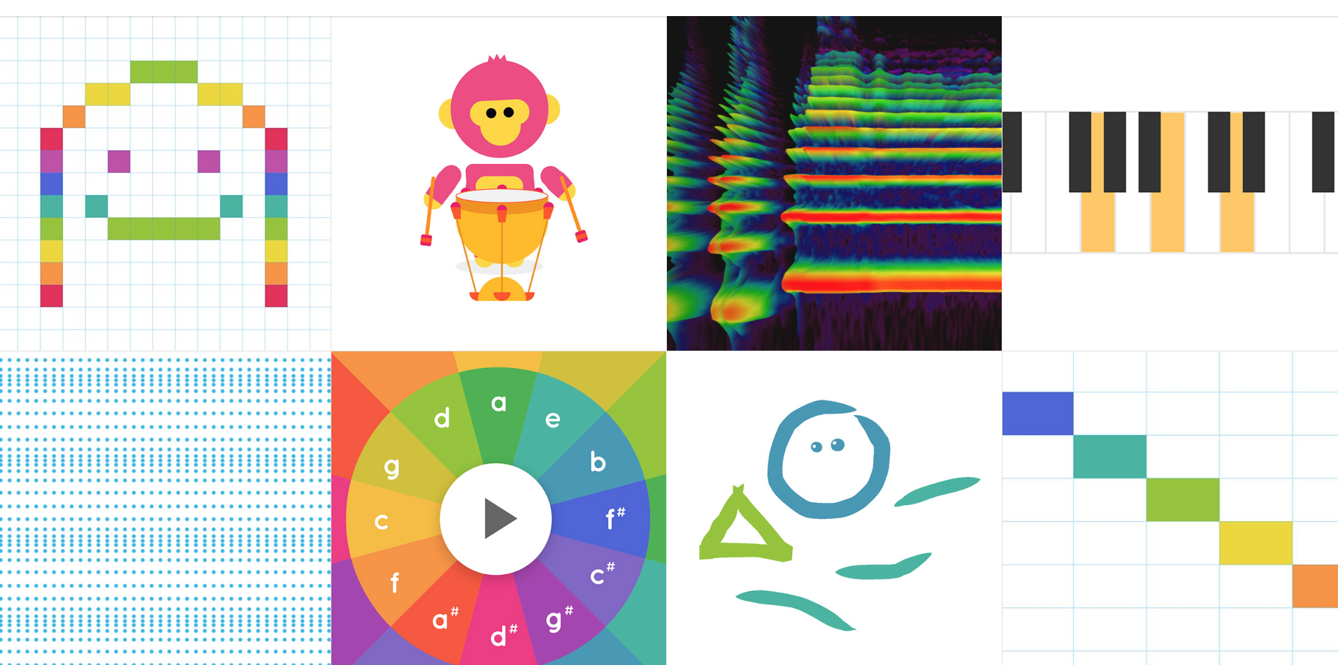 Chrome Music Lab: create your own songs. Chrome Music Lab tools.