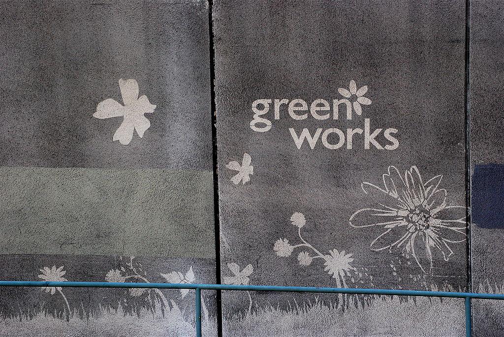 Reverse Graffiti: Ein Graffiti von Moose
