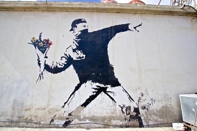 Soldier Throwing Flowers