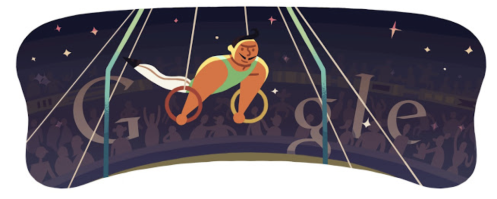 2012 London Olympic Games Google Doodle: Opening Ceremony.