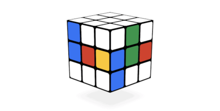 Rubik's Cube Google Doodle of May 19, 2014.