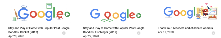 Google created different Doodles during the pandemic confinement.