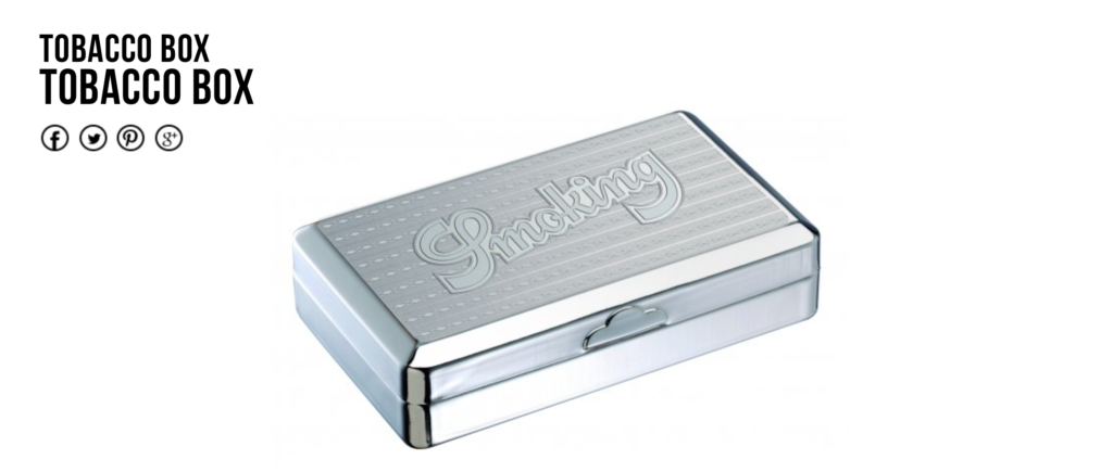 The Smoking® Cigarette case and the Tobacco box.