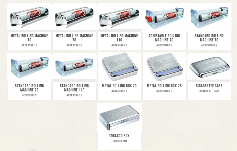 Smoking® currently has nine types of rolling machines.