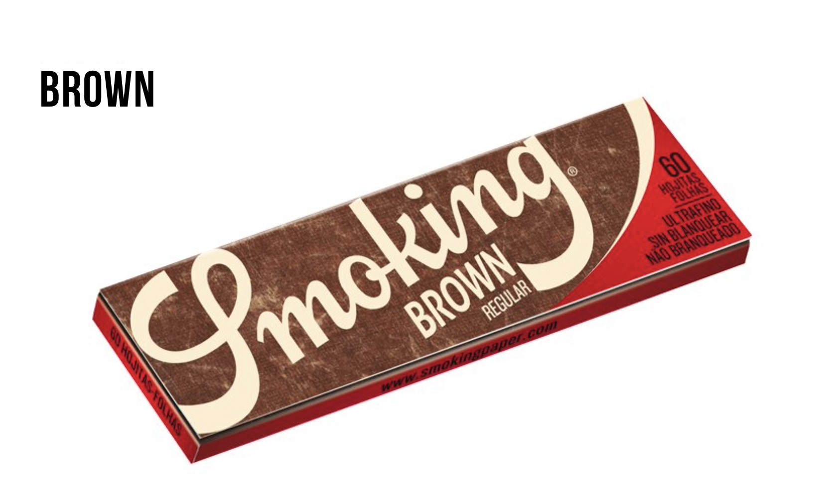 Smoking® Brown Rolling Paper, Regular size, unbleached paper, and totally free of chlorine.