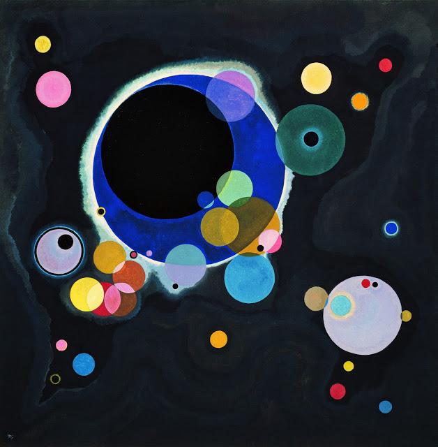Several Circles, 1926, abstract painting by Kandinsky.