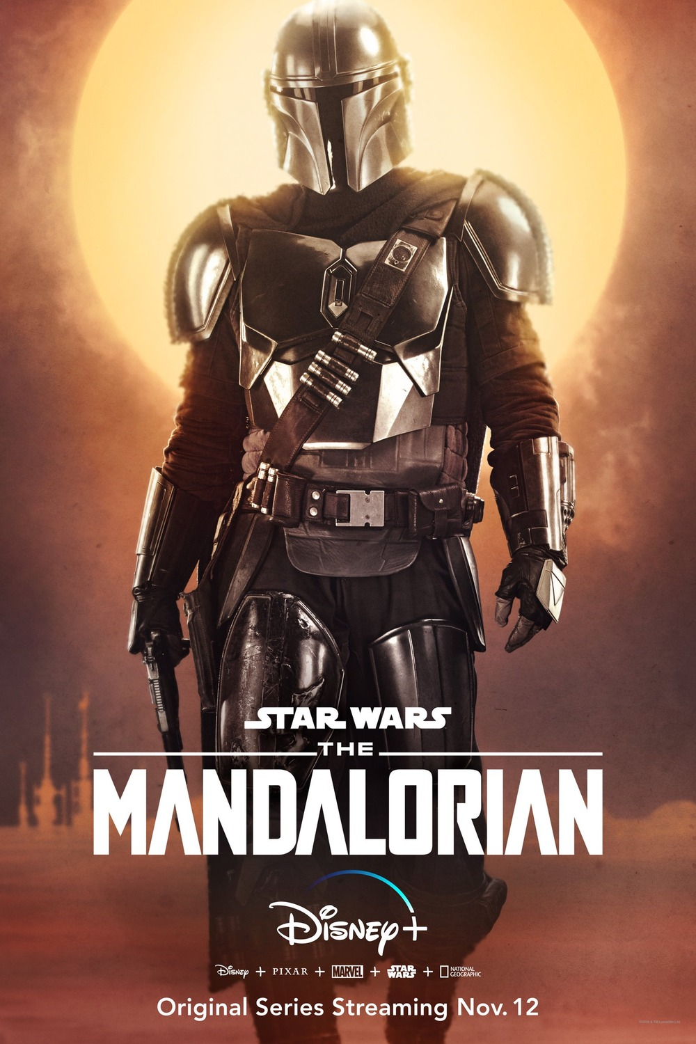 The Mandalorian official poster, season 1. Available on Disney Plus.
