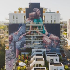 The Evening, a mural made by Fintan Magee for the Vancouver Mural Festival.