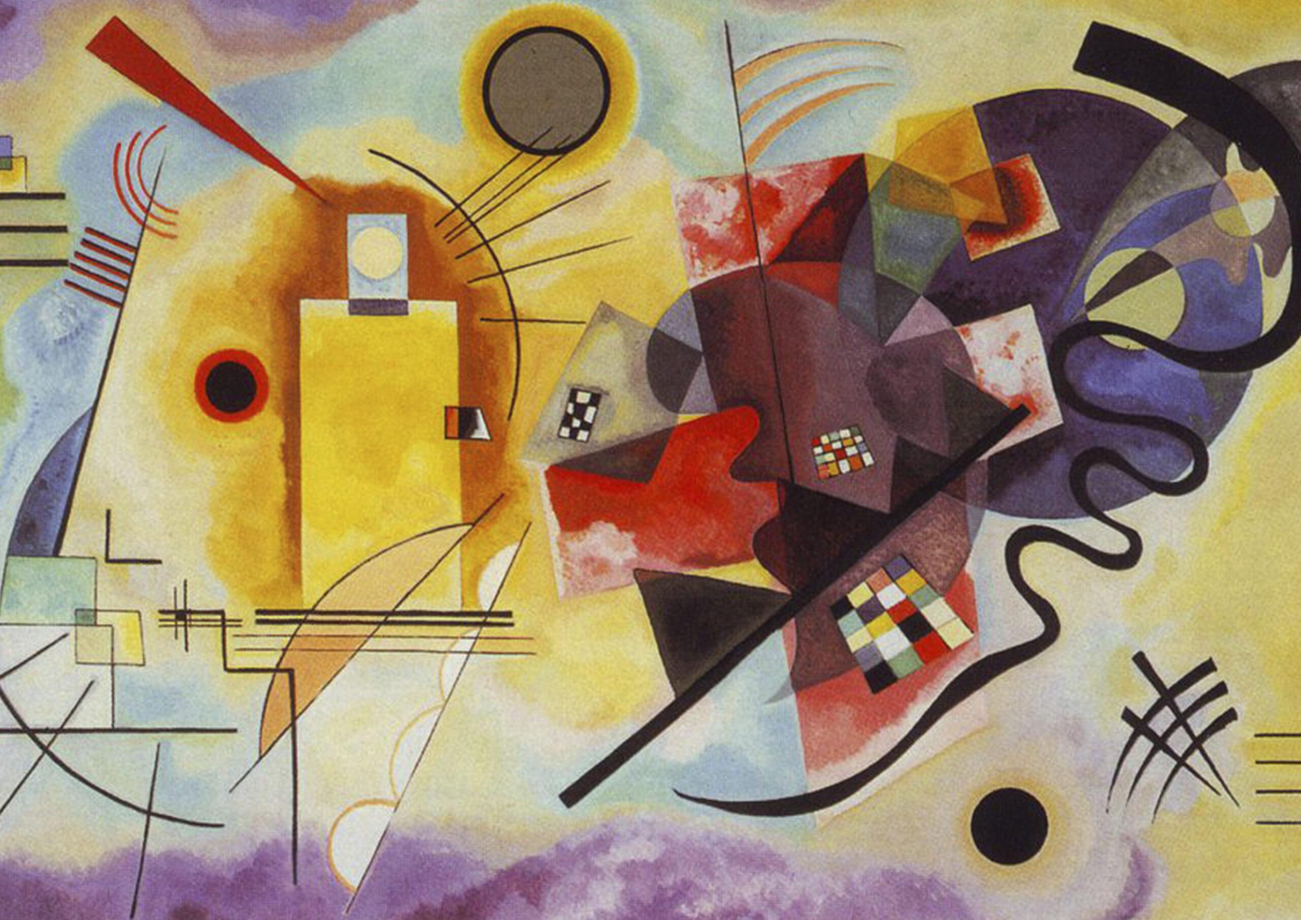 Yellow-Red-Blue, 1925, work of art of Kandinsky.