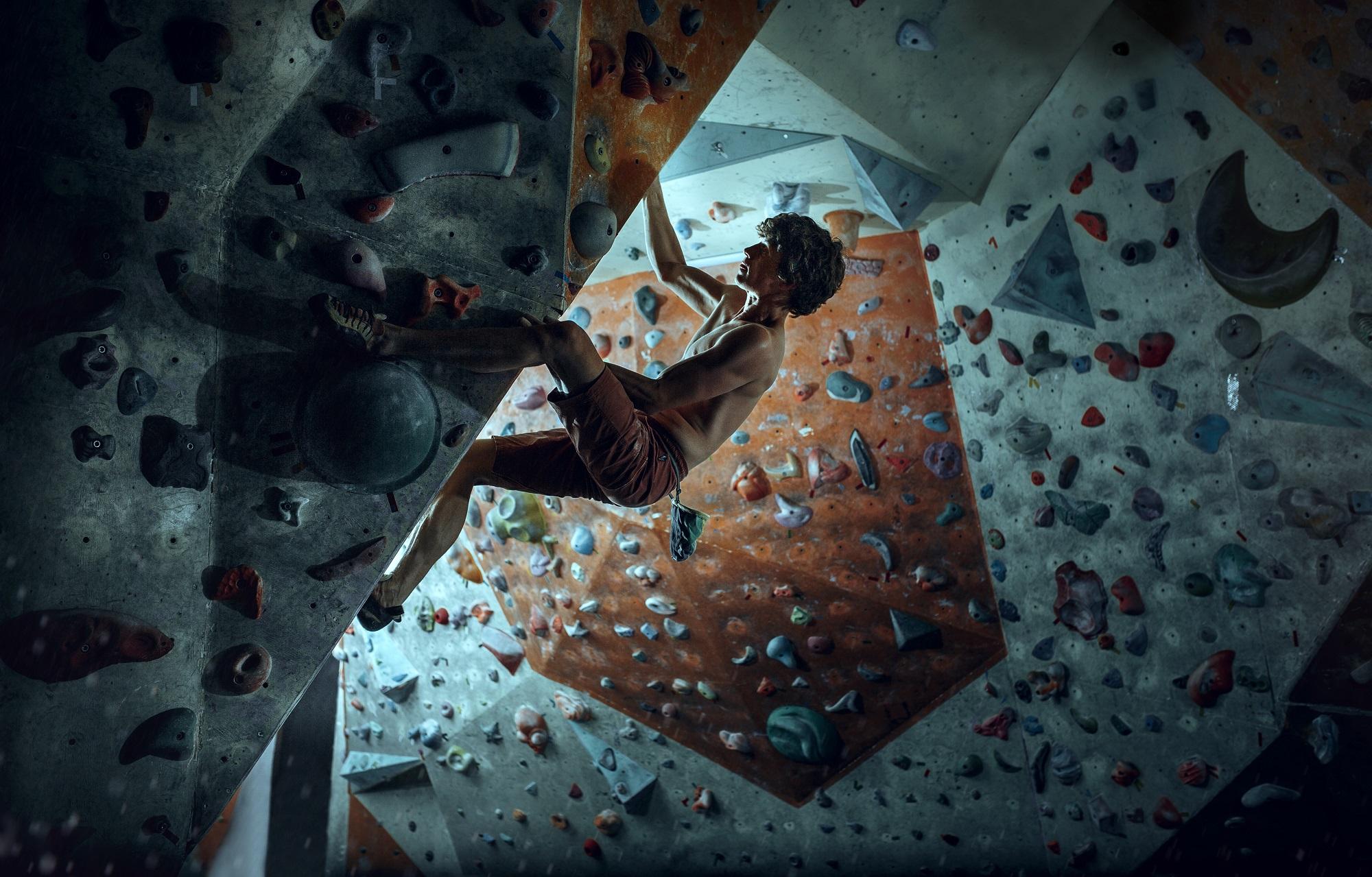 Bouldering, a new Olympics discipline.