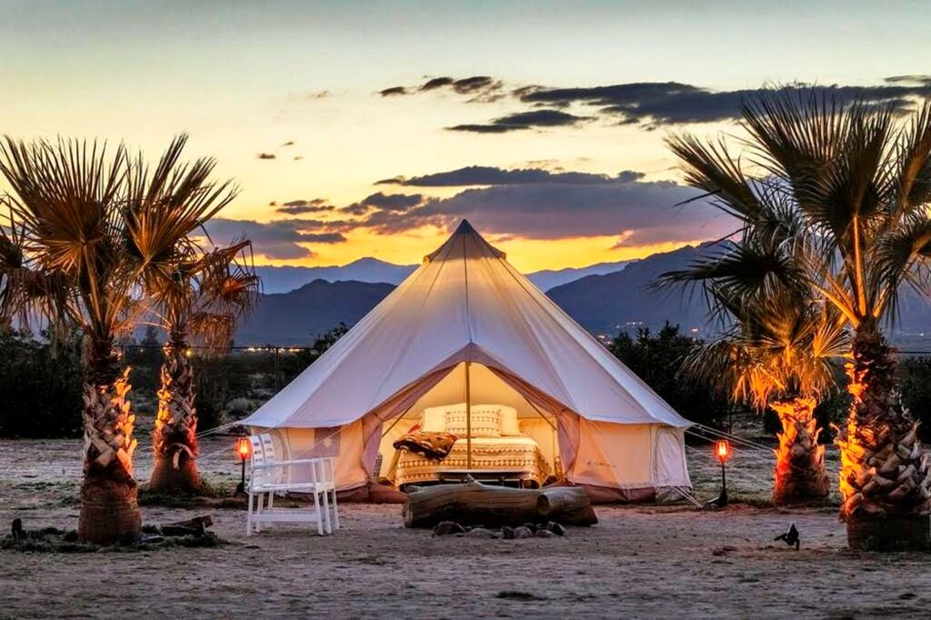 Magical Joshua Tree is a place for a relaxing and luxurious vacation. Go Glamping in California.