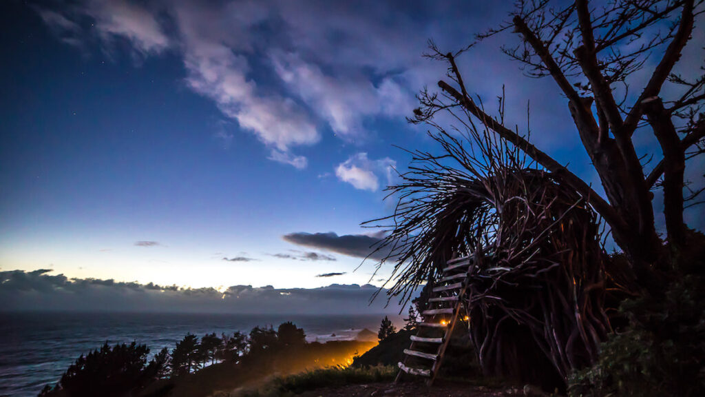 Glamping in California: amazing Pacific views at the Treebones Resort.