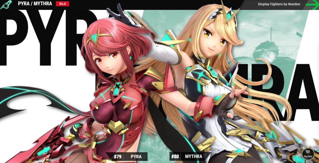 Meet Pyra and Mythra, a new blend character of Super Smash Bros. Ultimate.