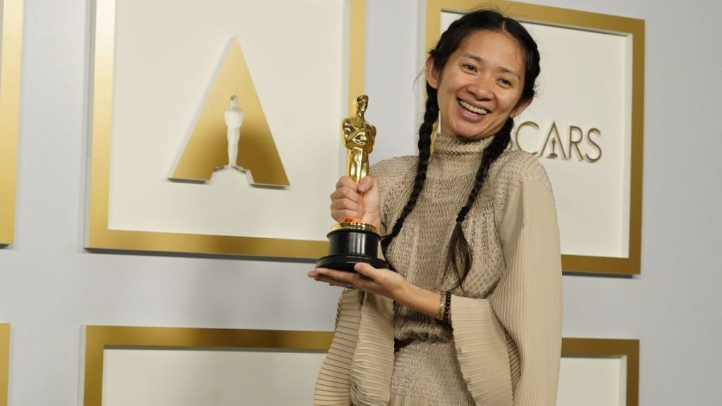 Chloé Zhao made history by winning the Best Picture and Best Direction award for her great film Nomadland.