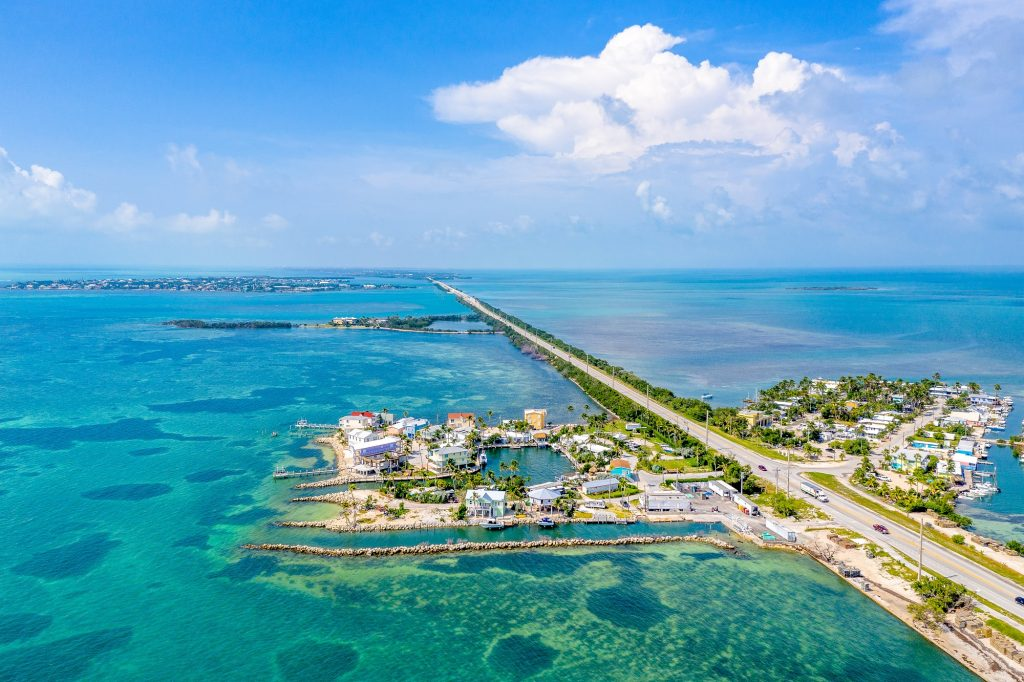 Best Road Trips In the Usa_ Florida Keys from above
