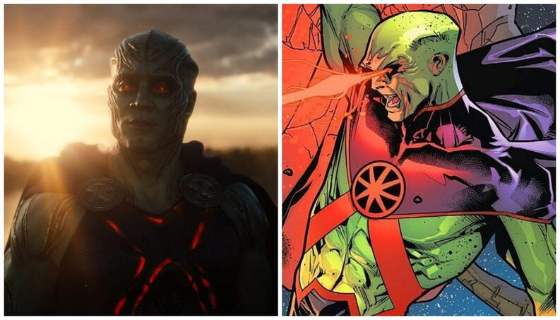 Martian Manhunter, the last character of Zack Snyder's Justice League