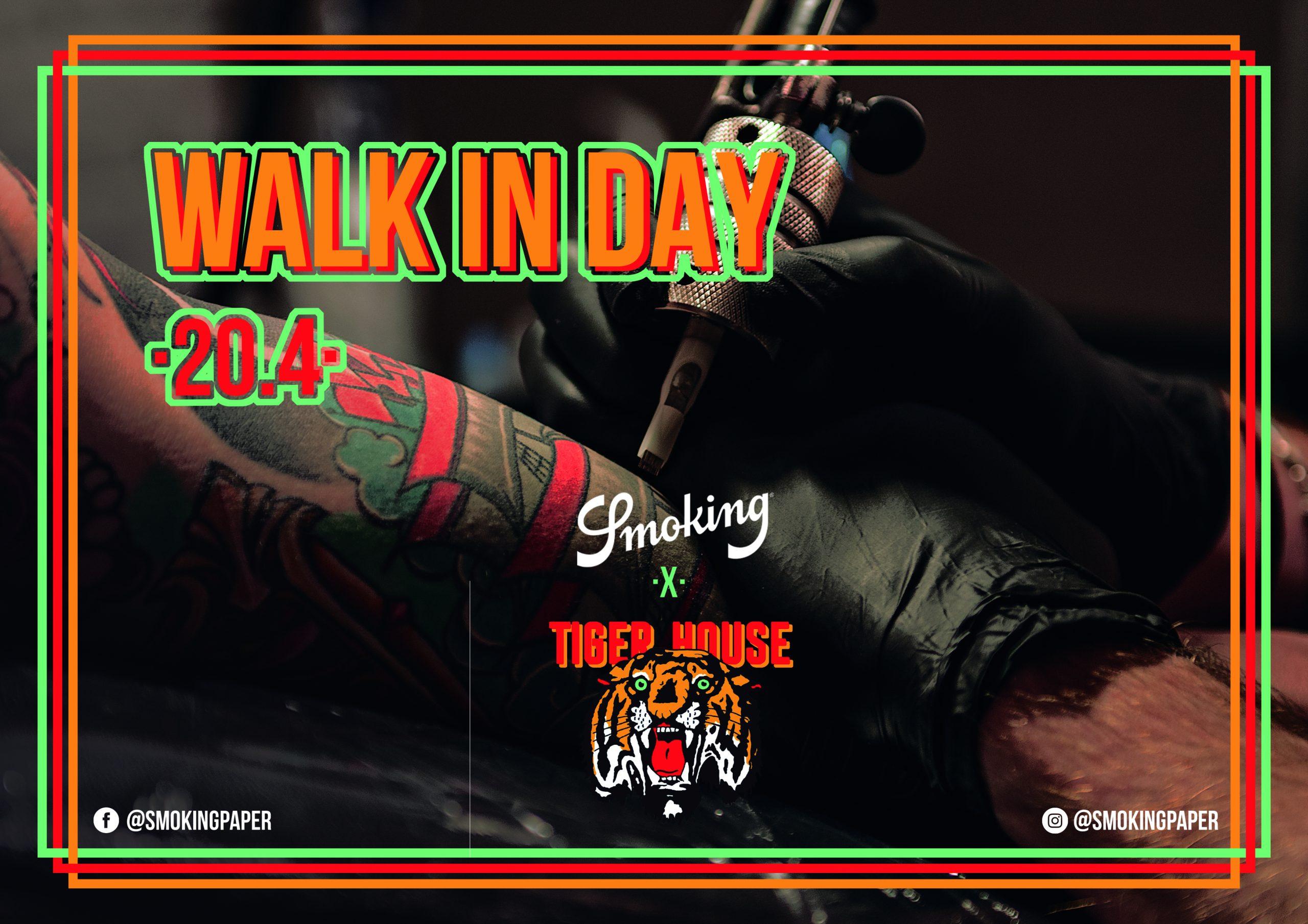 Walk-in Day Tattoos im elektrischen Tiger House Tattoo Studio.