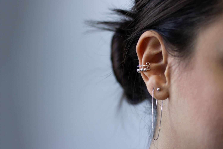 Los diferentes tipos de piercing en la oreja.