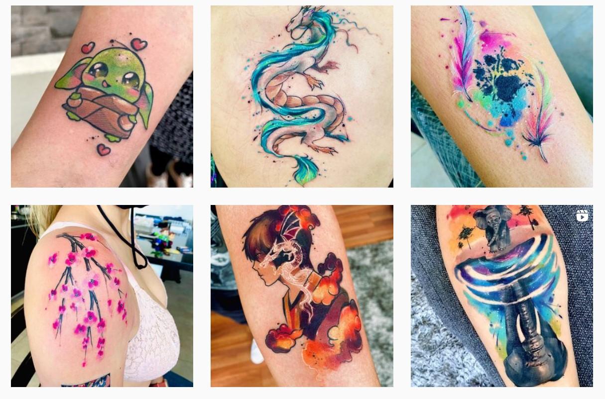 Conoce a Javi Wolf, uno de los mejores tatuadores de la Ciudad de México. Imágenes de su perfil de Instagram.