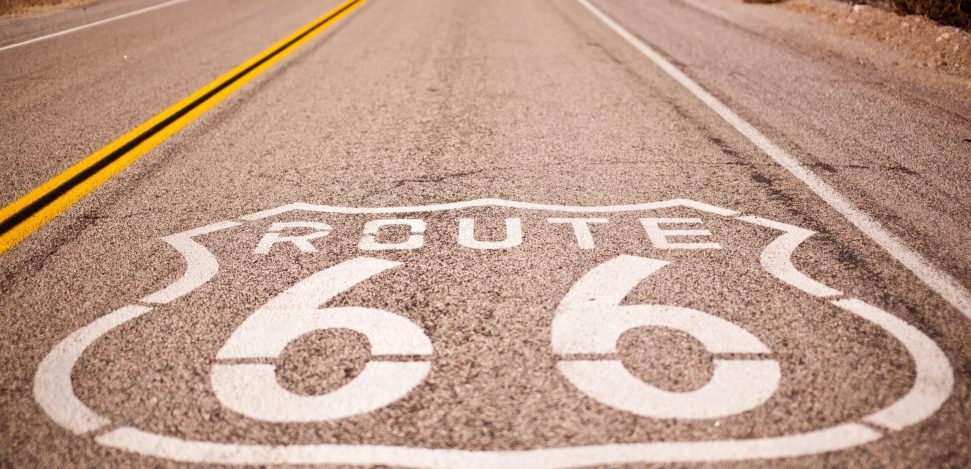 The famous Route 66