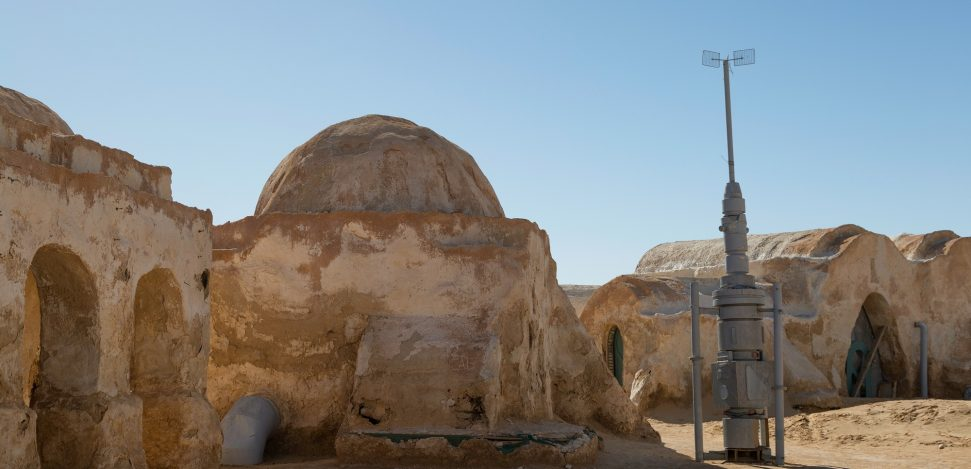 Star Wars movie set built in 1977