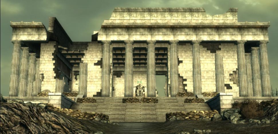 Videospiel-Orte, die du in der echten Welt besuchen kannst. Das Lincoln Memorial-Denkmal erscheint im Fallout 3-Videospiel.