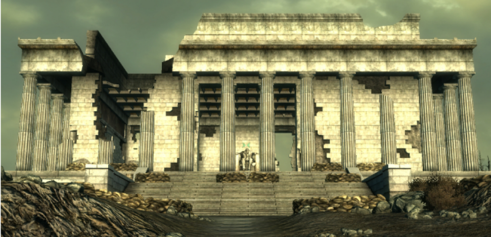 The Lincoln Memorial monument appears in the Fallout 3 video game. Check out the real life places you can visit in video games.