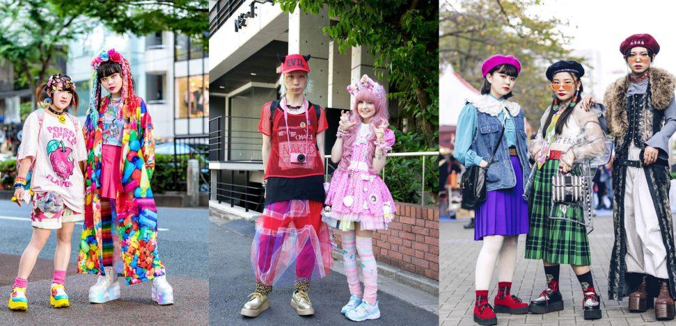 Harajuku Mode: Alles, was du über diesen Stil wissen musst. Mädchen und Jungen im Harajuku-Stil.