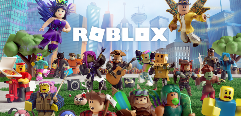 Roblox: an online game platform and game creation system. Characters from dfferent Roblox games