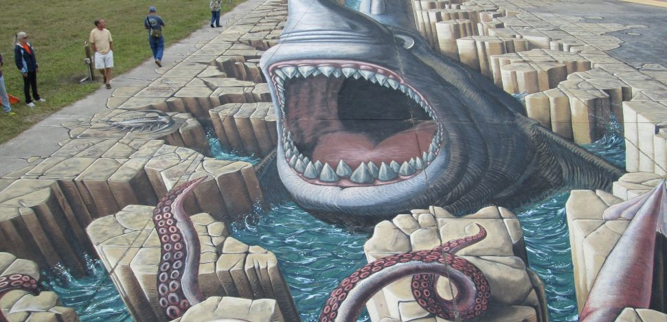 Who are the most famous 3D chalk artists? Example of 3D street chalk art.